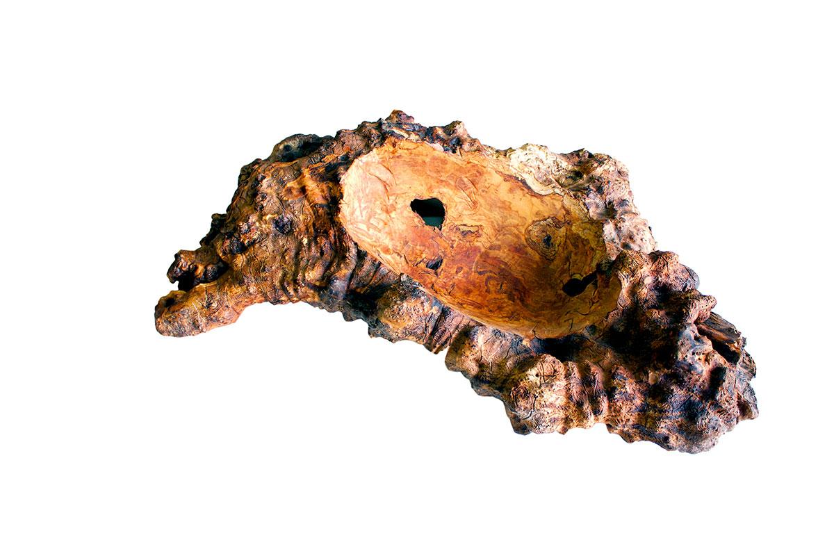 Posa monete in legno d'ulivo