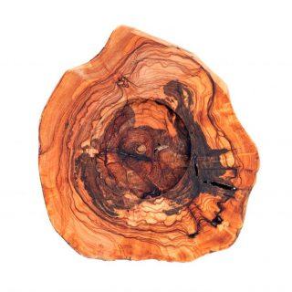 Sotto brocca in legno d'ulivo