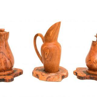 Brocche in legno d'ulivo