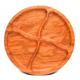 Piatto in legno d'ulivo