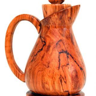 Brocca in legno d'ulivo