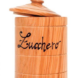 Zuccheriera in legno d'ulivo
